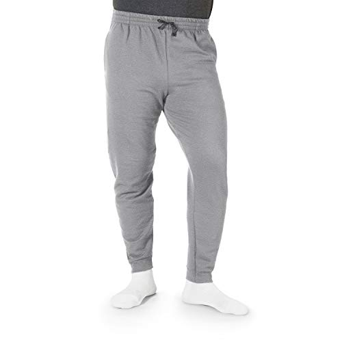 Jerzees Men's Fleece Jogger Pant, Athletic/Charcoal Grey, Small ()