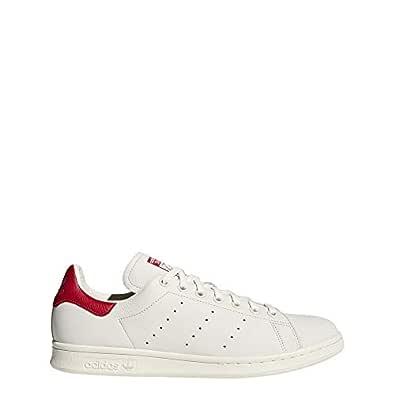 adidas Originals Stan Smith Shoes 7.5 B(M) US Women / 6.5 D(M) US Cwhite/cwhite/Scarle