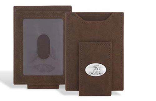 Alabama Crimson Tide - Crazy Horse Leather Front Pocket Wallet