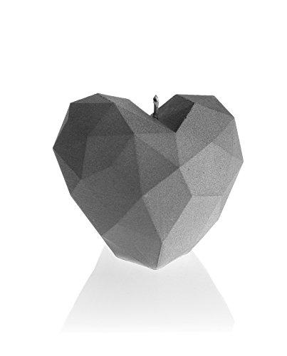 candellana Kerzen candellana-Heart Poly Kerze, grau matt