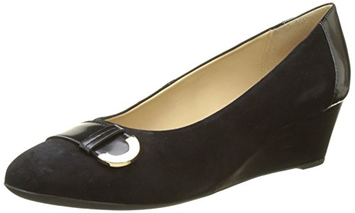 Geox D Floralie a, Zapatos de Tacón para Mujer Negro (Black)