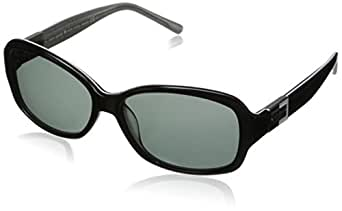 Kate Spade Women's Annika Sunglasses,Black and Silver Spark Frame/Gray Lens,one size