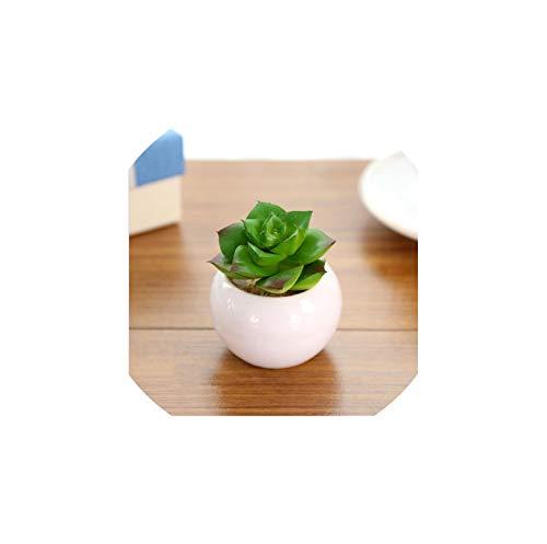 1 Set Mini Artificial Green Plants Bonsai Fake Flower Garden Ornaments Potted Home Balcony Decoration Succulent Plants,8