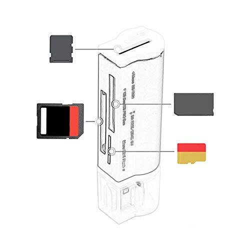 Multi-Function All in 1 USB2.0 Memory Card Reader Mini Metal Card Reader Black