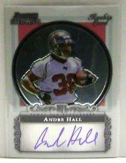 2006 Bowman Sterling #AHA Andre Hall RC Auto NFL Football Trading Card 2006 Bowman Sterling Rc Auto