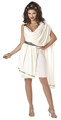 California Costumes Women's Deluxe Classic Toga Tunic, Cream, Small Costume -
