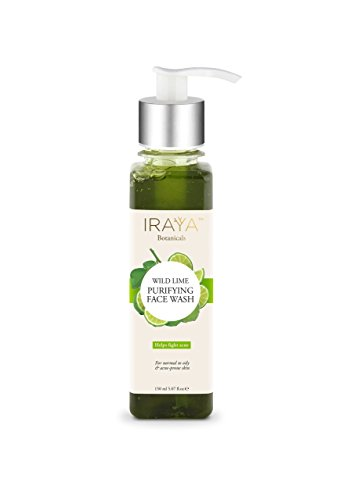 Iraya Neem & Lime Natural Face Wash Cleanser for Oily and...
