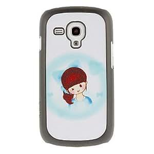 Conseguir Diseño Gráfico de la chica encantadora protector duro Volver Funda para el Samsung Galaxy Tendencia Duos S7562