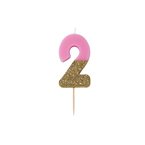 - Talking Tables Bday 2 Birthday Candle Cake Topper, Height 8cm, 3