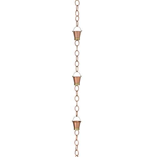 Chain Pail - Good Directions 480P-8 Pails Rain Chain, 8-1/2', Brushed Copper