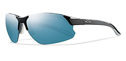 Smith Parallel D Max Sunglasses Black White / Carbonic Blue Sol-X Mirror & HDO Cleaning Carekit - Smith Max Sunglasses D