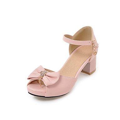 Enochx sandali da donna estate Slingback comfort Chunky Heel Bowknot casual in similpelle, beige, us8.5/EU39/uk6.5/CN40