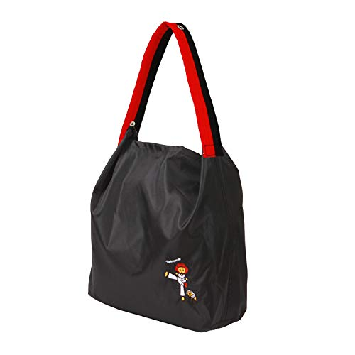 [TAE-S] Taekwondo Inspired Multi-purpose Totes With Taekwondo Belt Handles Waterproof & Lightweight (Black Bag, Poom Belt)