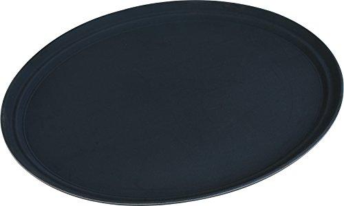 Carlisle TB2500004 Truebasics - Bandeja ovalada antideslizante para camarero, 63,5 x 51,5 cm, color negro