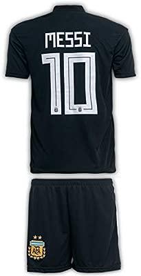 JTex Argentinien 2019-20 Messi - Camiseta de fútbol para niños (Tallas 2-14 años), diseño de Messi