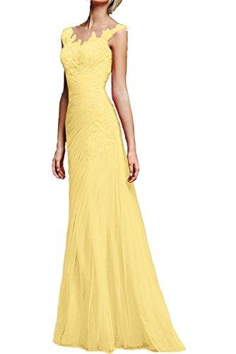 Spitze Neu Glamour Meerjungfrau Promkleider Partykleider Ivydressing Abendkleider Traeger Lang Gelb REwIdxd7q