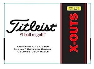 Titleist X-outs High-Visibility Golf Balls - 1 Dozen Surlyn Covered Bright Yellow Golf Balls