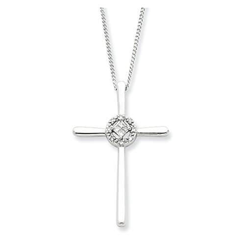 925 Sterling Silver Diamond Eternal Life Cross Religious Chain Necklace Pendant Charm Fine Jewelry For Women Gift Set -