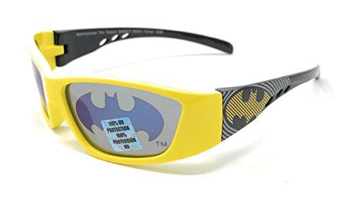 DC Comics Batman Kid's Sunglasses in Yellow with Bat Signal Lens - 100% UV - Batman Sunglasses Kids