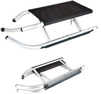 klappbare alu rodel schlitten klappschlitten 90 cm mit. Black Bedroom Furniture Sets. Home Design Ideas