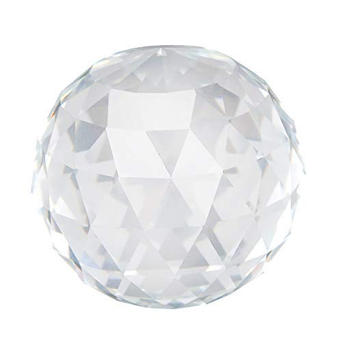 1Pc 60/80mm Clear Cut Crystal Prisms Glass Ball Home Hotel Decor Hardware Fittings Hot (60MM/2.36in)