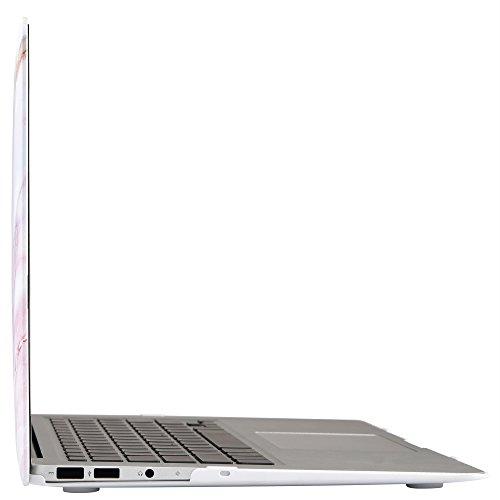 iDOO Soft Touch Hard Plastic Matte Case for MacBook Air 13 inch Model A1369 and A1466 - Pink Marble by iDOO (Image #5)
