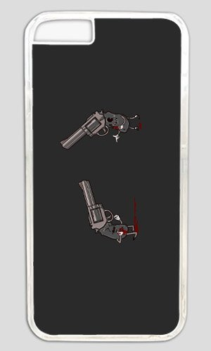 Funny Don't bring a knife to a gun fight Thanksgiving Halloween Masterpiece Limited Design PC Transparent Case for iphone 6 by Cases & Mousepads