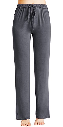 (GYS Women's Bamboo Sleep Pants, X Large, Dark Grey)