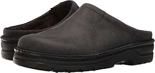 Naot Footwear Men's Bjorn Oily Coal Nubuck Clog/Mule 41 (US Men's 8) M