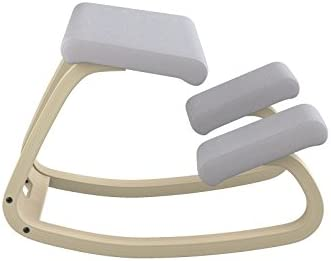 /Silla ergon/ómica Silla Negro Lacado de Madera Varier Variable Balans/ Color Gris Claro