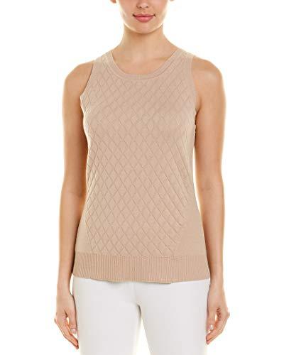 BECKEN Womens Cashmere-Blend Sweater Tank, Xs, Brown