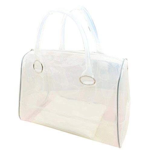 Jelly Purse Handbag (Donalworld Women PVC Clear Bag Summer Beach Jelly Beige)