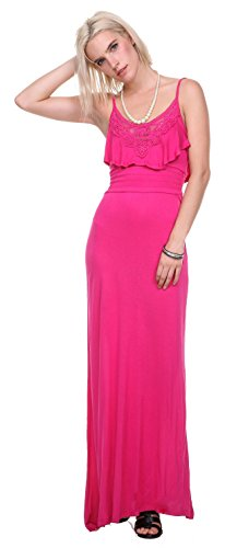 Stanzino Women's Solid Tank Scoop Neck Beach Casual Cover Up Maxi Summer Dress