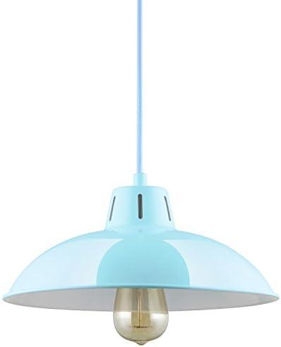 Sunlite CF PD V BB Baby Blue Vega Residential Ceiling Pendant Light Fixtures with Medium E26 Base
