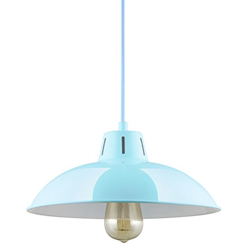 Blue Pendant Ceiling Light in US - 8