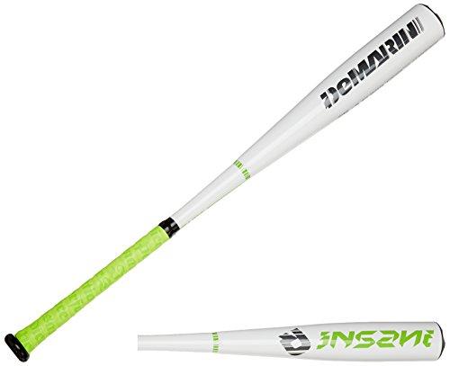 Cheap DeMarini 2015 Insane BBCOR Baseball Bat, 33-Inch/30-Ounce, White/Green