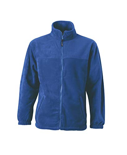 Pesante Uomo zip Fleece Sportiva Full In Giacca Royal wgIPBqn