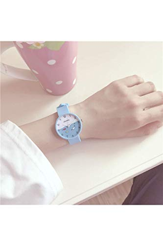 zheng Shuang Beginning Summer Watch Women Girls Student Unique Woman Cute Elegant Gift Tide Candy Colored Jelly (Sky Blue Fish subsection (+ Battery Feed Box)