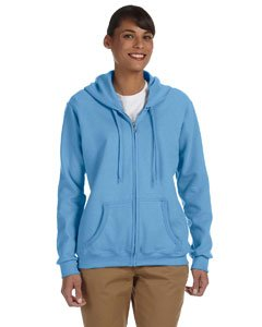 Gildan womens Heavy Blend 8 oz. 50/50 Full-Zip Hood(G186FL)-CAROLINA ()