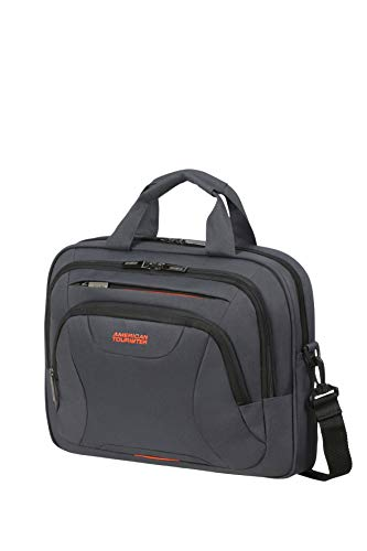 American Tourister At Work 39cm Briefcase, grey/orange (Grey) – 88531/1419