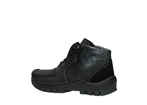 Wolky Seamy 19000 Black Up Comfort Cross Nubuck stringate Scarpe 4xqwO5RO
