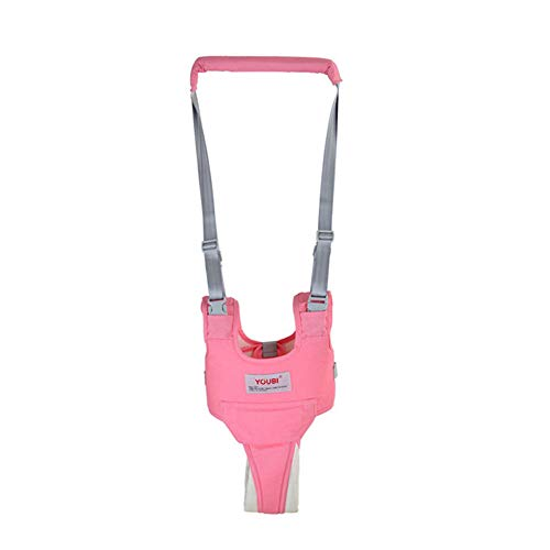 Breathable Handheld Baby Child Harnesses Learning Assistant Walker Toddler Walking Helper Kid Safe Walking Protective Belt(Pink)