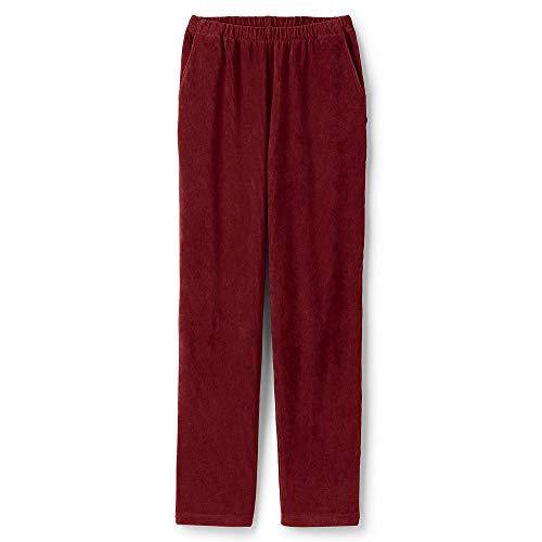 Lands' End Women's Plus Size Sport Knit Corduroy Elastic Waist Pants High Rise, 1X, Dark Rust