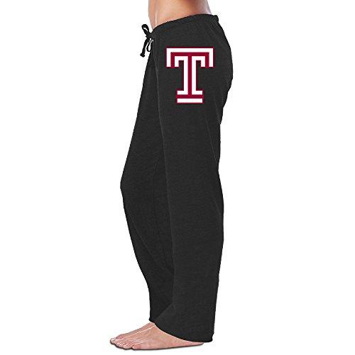 MEGGE Women's Temple University T Logo Comfortable Jersey Pant Black XL