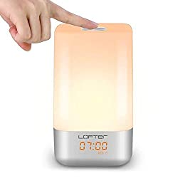 Wake Up Light Alarm Clock, Wake up Light Bedroom,Sunrise Alarm Clock Touch Sensor,Dimmable Color Changing Night Light
