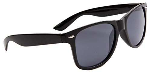 Classic Wayfarer Sunglasses, Metal Spring Hinge, Black Frame, Smoke Lens - Sunglasses Review Wayfarer Folding