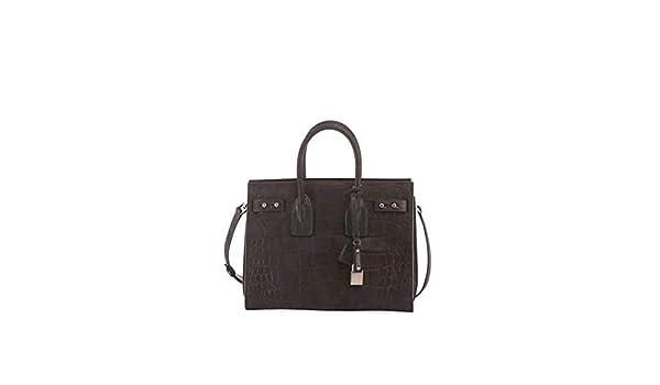 Saint Laurent Sac de Jour Small Croco Carryall Bag made in Italy (Black)   Handbags  Amazon.com c43fb17ba1fe5