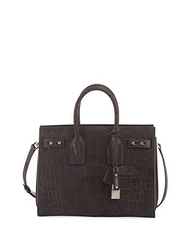 24c6f76e91a9 Saint Laurent Sac de Jour Small Croco Carryall Bag made in Italy (Black)