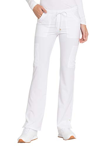 HeartSoul Love Always HS025 Women's Charmed Low Rise Drawstring Cargo Scrub Pant