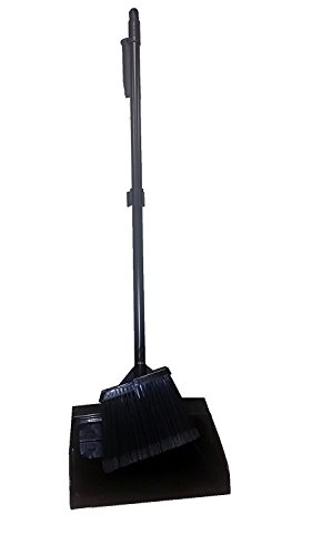 Bristles 10854051 Put one's weight behind Dustpan & Lobby Angle Broom Combo Set, Black